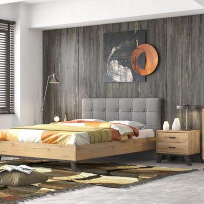 Κρεβάτι Μελί διπλό ντυμένο N75
